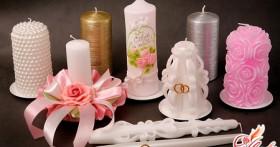 Свадебные свечи своими руками — элегантный аксессуар