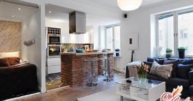 Дизайн маленькой квартиры студии: простые варианты