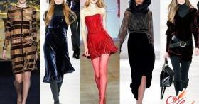 Модная одежда из бархата
