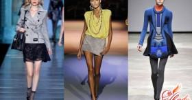 Юбка трапеция: фото с показов, модные тенденции