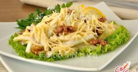 Салат с сыром и яблоками — оригинально, пикантно, изысканно