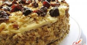 Торт с черносливом и орехами — феерия вкусов
