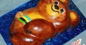 Радость для детей: торт «Олимпийский мишка»