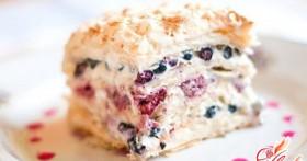 Бисквитный торт с заварным кремом: сладкое удовольствие