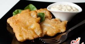 Рыба в кляре с майонезом — быстро, сочно, вкусно