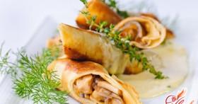 Блины с курицей и грибами: оригинальные рецепты простых блюд