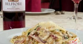 Итальянская кухня: паста с грибами в сливочном соусе