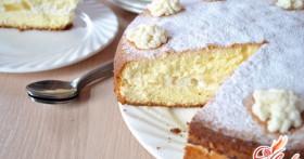 Торт с творожным кремом : нежность в каждом кусочке