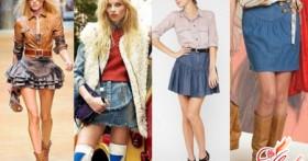 Модные и стильные короткие джинсовые юбки — 2016