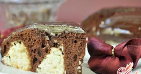 Шоколадный торт с творожными шариками — подарок для шокоманов