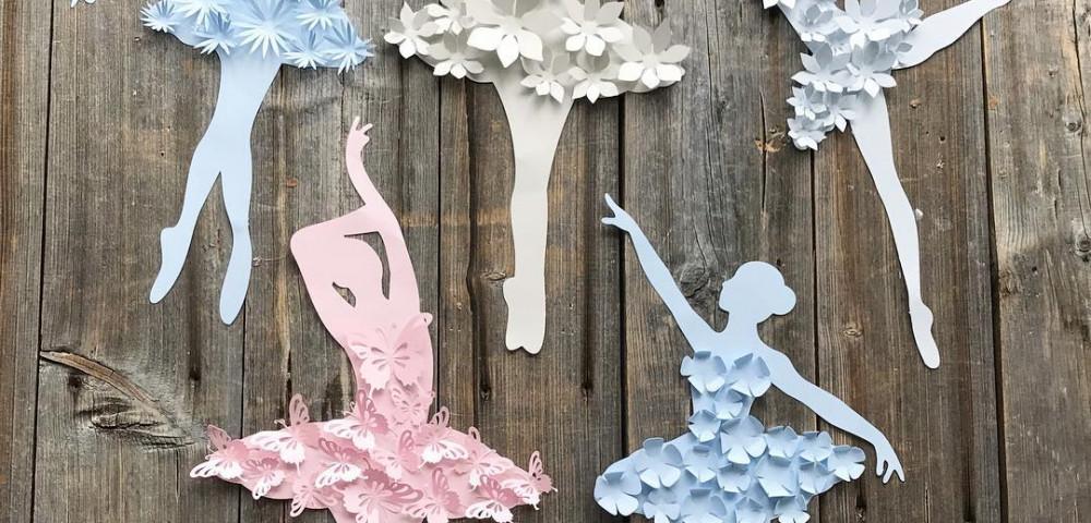 Шаблоны балерин для вырезания - крошки ладошки