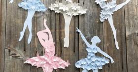 Красивые и оргинальные шаблоны балерин для вырезания из бумаги
