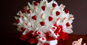 Цветы из конфет своими руками — основы свит-дизайна
