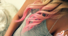 Как красиво покрасить кончики волос пастелью?