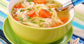 Как приготовить куриный суп с вермишелью?