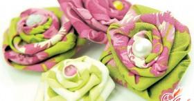 Как сделать цветы из ткани своими руками? Новые идеи хенд мейда