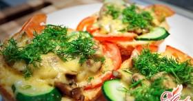 Горячие бутерброды в духовке — быстро, вкусно и сытно!