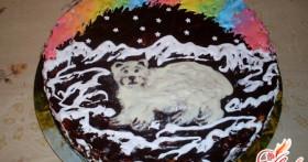 Торт сметанный — «Мишка на Севере»