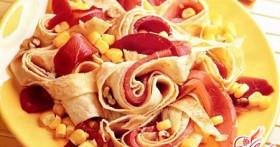 Салат с омлетом, или Добавьте нежности