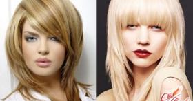 Как сделать «лесенку» на средние волосы