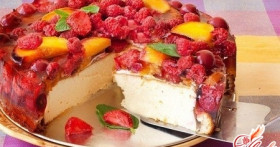 Торт с желе и фруктами: готовим сами