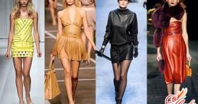 Кожаное платье: фото, модные дизайнерские решения, тренд