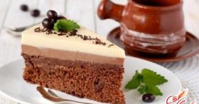 Три цвета и вкуса в одном совершенстве: Торт «Три шоколада»