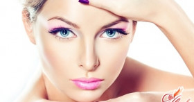 Свадебный макияж для голубых глаз. Голубой океан