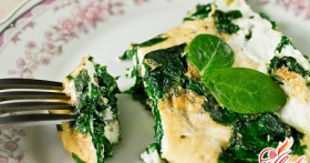 Готовим полезную еду: омлет со шпинатом