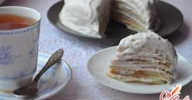 Блинный торт с заварным кремом: по мотивам французской кухни