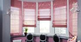 Римские шторы в различных интерьерах
