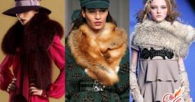 Меховая горжетка: тепло и модно