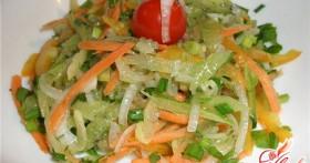 Салат из зеленой редьки. Такие разные рецепты