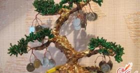 Денежное дерево из бисера — талисман богатства своими руками