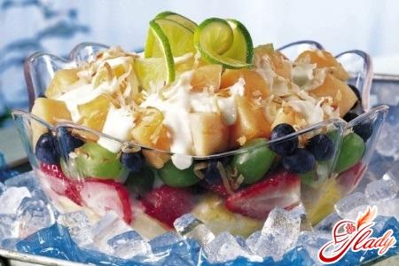 Как сделать фруктовый салат с йогуртом 969