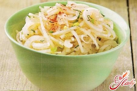 рецепт луковый салат