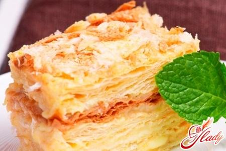 рецепт торта наполеон со сгущенкой