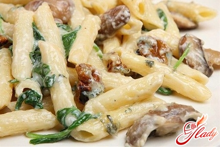 спагетти с грибами рецепт