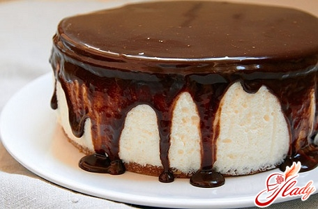 как приготовить торт семифредо в шоколадной глазури