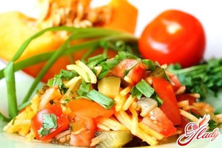 рецепты салат из тыквы