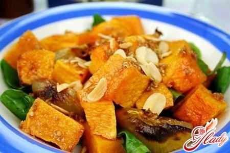 салат из тыквы рецепты