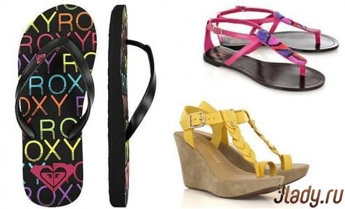 Вьетнамки Roxy, сандалии Diane von Furstenberg, босоножки Juicy Couture