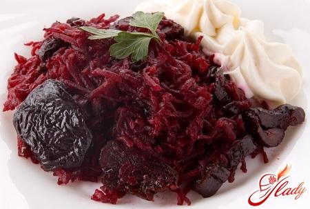 салат свекла с черносливом рецепт