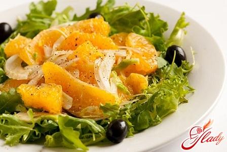салаты на оливковом масле