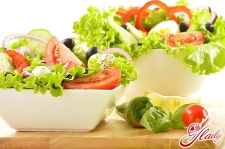салаты с оливковым маслом