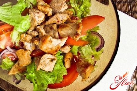 Как готовить салат из свиней