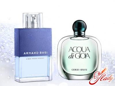 «L'Eau Pour Homme» от «Armand Basi» и «Acqua di Gioia» от Giorgio Armani