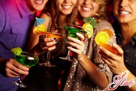 Новогодние коктейли с алкоголем
