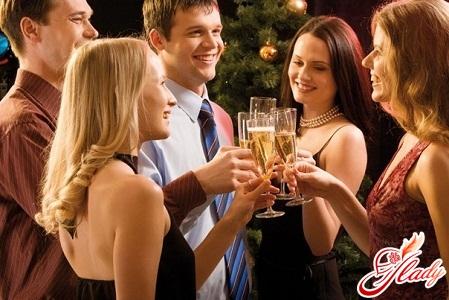 поздравления и тосты за новогодним столом