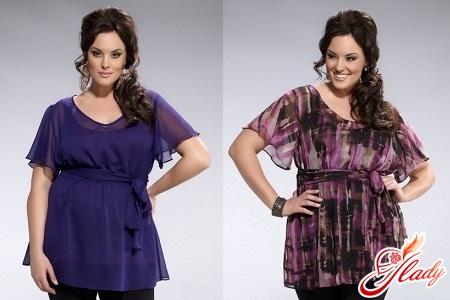 модели одежды для полных женщин